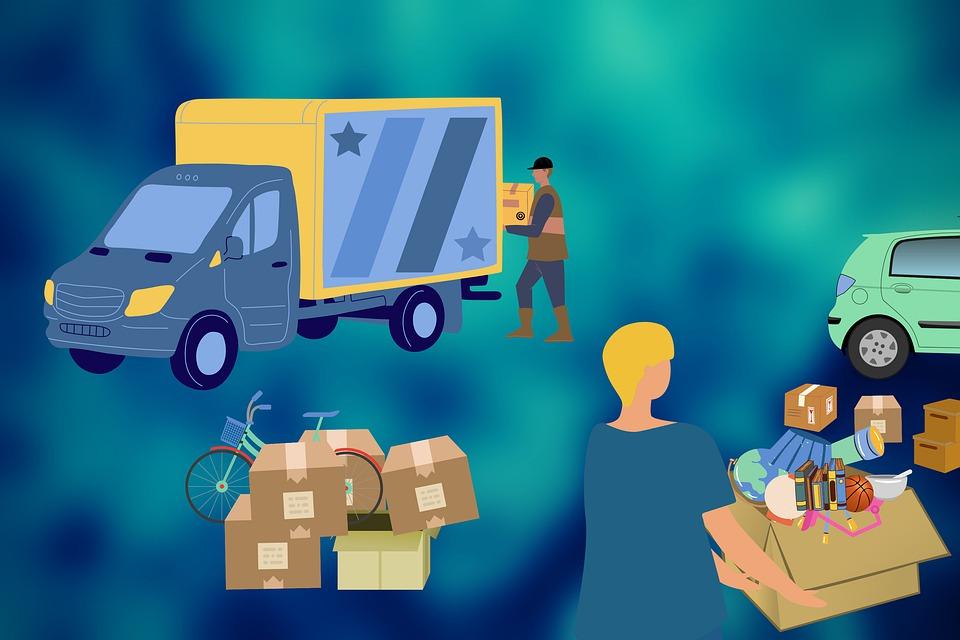 sťahovanie, nákladné auto